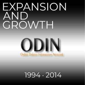 The years of ODIN from 1994-2014